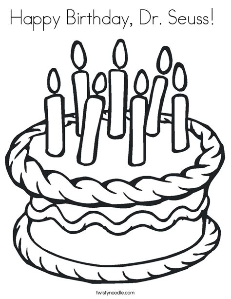happy birthday coloring pages pdf birthday cake happy birthday dr seuss coloring page az