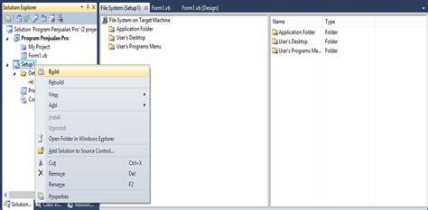 membuat website menggunakan visual studio 2010 cara membuat package installer menggunakan visual studio