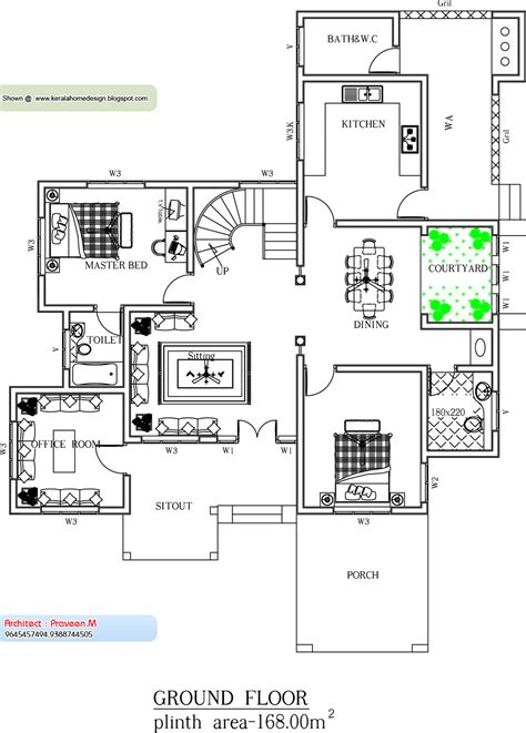 Kerala Home Plan And Elevation 2561 Sq Ft Kerala Home Home Floor Plans Kerala