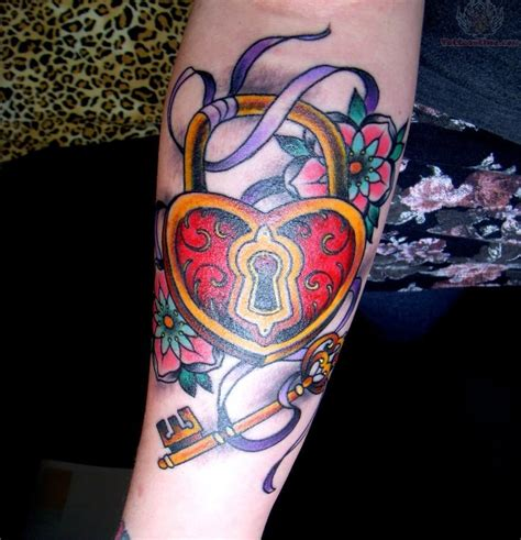 heart with ribbon tattoo designs lock and key tattoos designs ideas and meaning tattoos