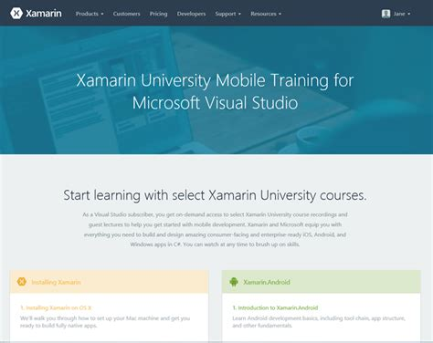 xamarin tutorial microsoft the xamarin university benefit in visual studio
