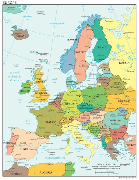 a map europe maps of europe map of europe in political