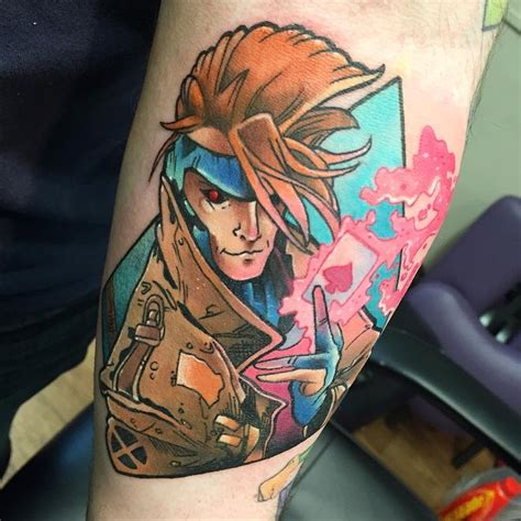 gambit tattoo 573 best comic book tattoos images on arm