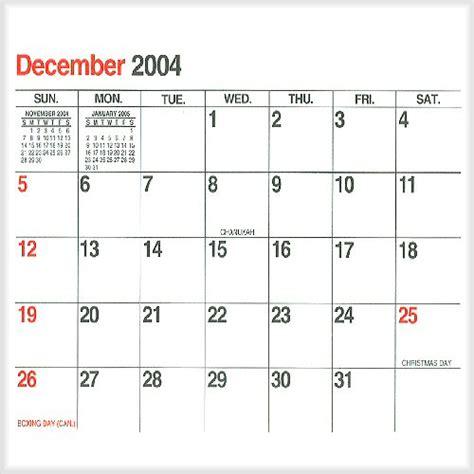 December 2005 Calendar Home Www Gordonanderson Ca