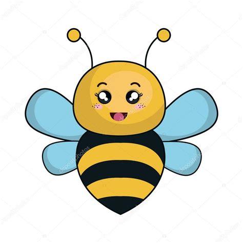 imagenes de animales kawwai abeja lindo animales kawaii estilo vector de stock