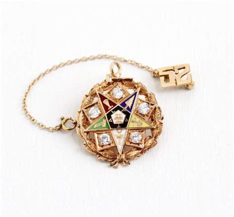 vintage 14k 10k gold order of the eastern