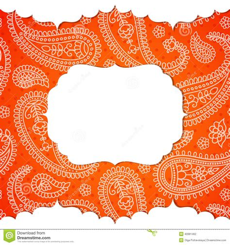 indian pattern frame frame in the indian style stock vector image 40981462