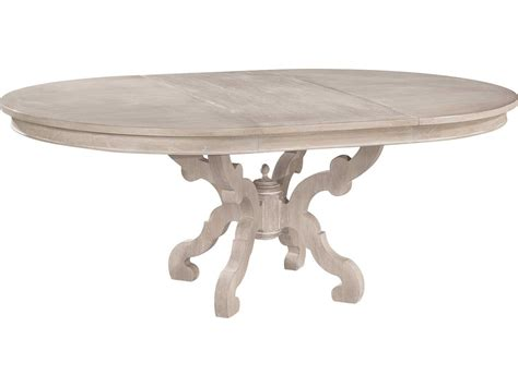 hekman suttons bay driftwood baroque dining table