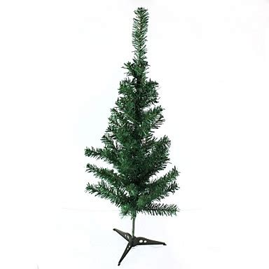 plastic christmas tree decoration green size m 2310384