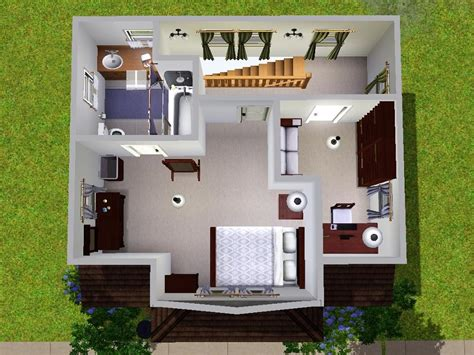 Open Floor Plan Layout by Mod The Sims Micro Starter Home
