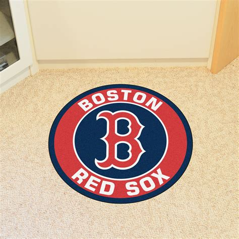 sox rug boston sox logo roundel mat 27 quot area rug