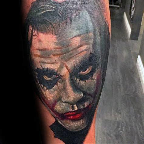 joker tattoo on arm 90 joker tattoos for men iconic villain design ideas