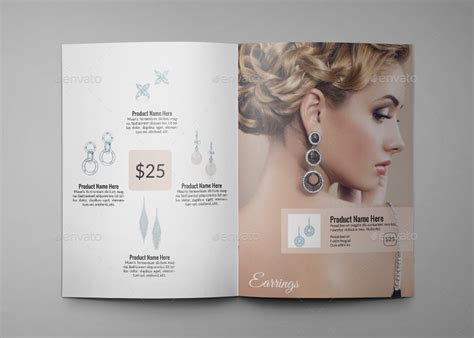 jewelry a4 indesign catalog template hp0011 by annozio