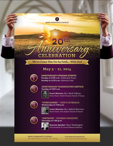 The Gallery For Gt Church Anniversary Celebration Flyer Template For Church Flyer