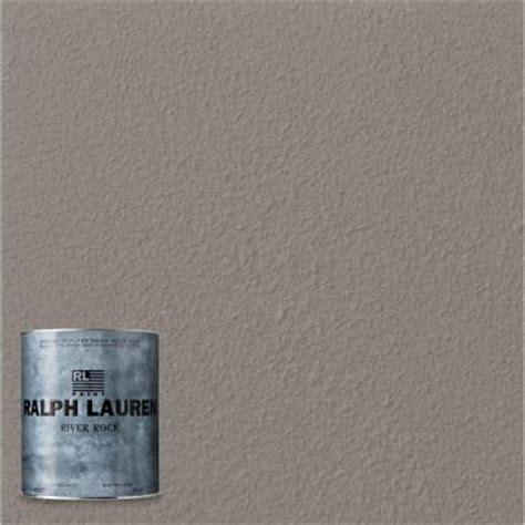 ralph 1 qt grand wash river rock specialty finish interior paint rr111 04 the home depot