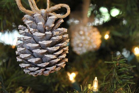 pine cone ornaments do it yourself divas diy snow pinecone ornament