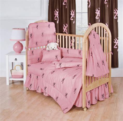 browning bedding browning buckmark pink 3pc crib bedding set