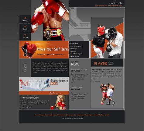 website design templates from our web design and
