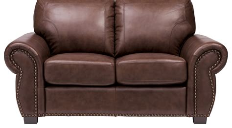 dark brown leather loveseat balencia dark brown leather loveseat classic traditional