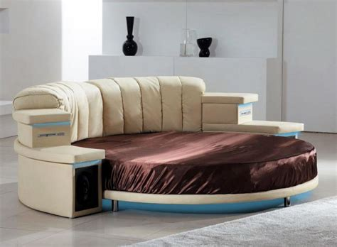 round bedroom furniture black leather round bed modern bedroom furniture