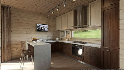 Walnut Kitchen Cabinets by Walnut Kitchen Interior Design Ideas