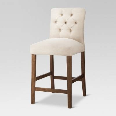 Brookline Tufted Counter Stool by Brookline Tufted 25 Quot Counter Stool Chestnut Wood Finish