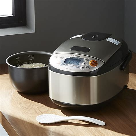 Rice Cooker Zojirushi zojirushi rice cooker 3 cup ns lgc05 crate and barrel