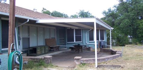 how to attach awning to house all steel attached home patio awning northwest san antonio