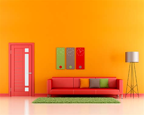 colorful walls living rooms color schemes for orange walls