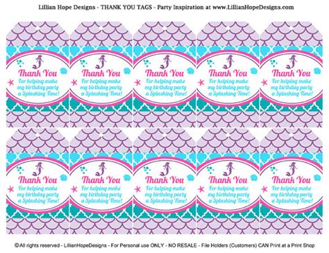 Cupcake Home Decor Mermaid Birthday Party Printable Party Package Lillian