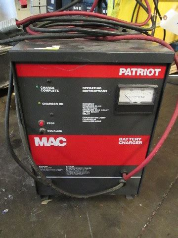 mac patriot vdc automatic battery charger  single