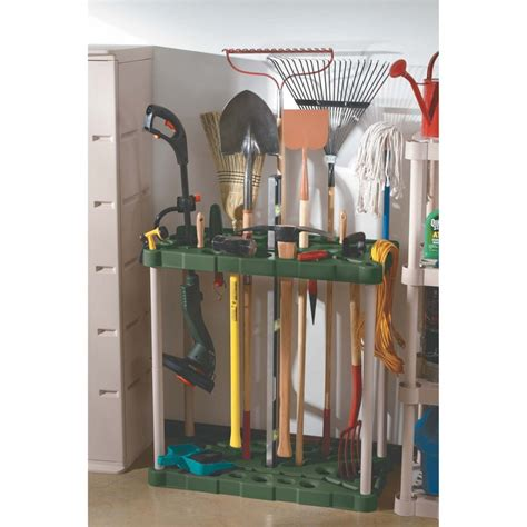 Shovel And Rake Storage Rack by Simple Rubbermaid Garage Storage Design With Tool
