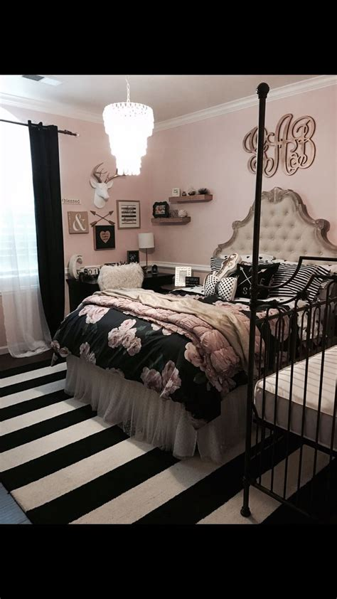Tween Room Decor Cool Cool Tween Bedroom Decor Pottery Barn Rustic Blush Black Stripped Rug By Http
