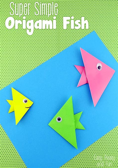 making of origami fish easy origami fish origami for kids easy peasy and fun