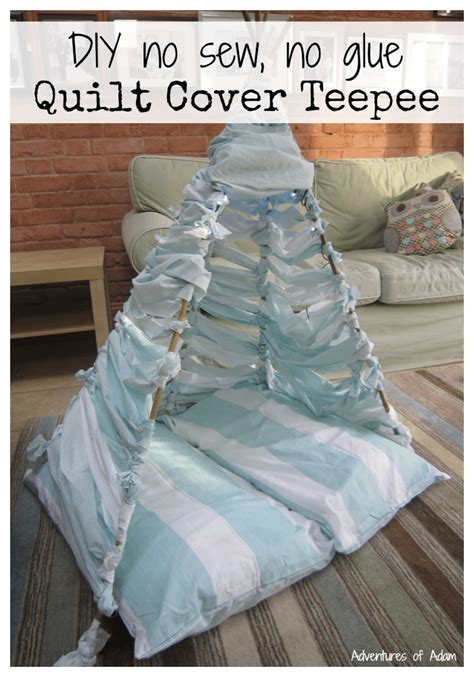 No Sew Quilt by Diy No Sew No Glue Quilt Cover Teepee