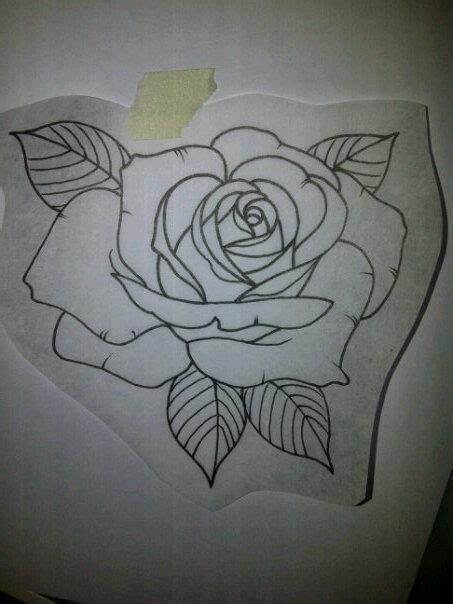 rose tattoo design for men outline for a customer tomorrow skin