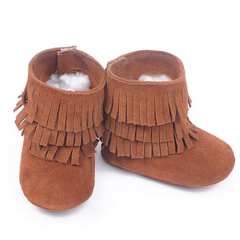 new 100 genuine leather toddler suede baby boots