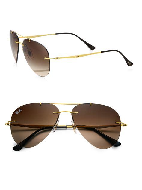 Sunglasses R Aviator Brown Gradasi ban 56mm aviator sunglassesbrown gradient in brown for lyst