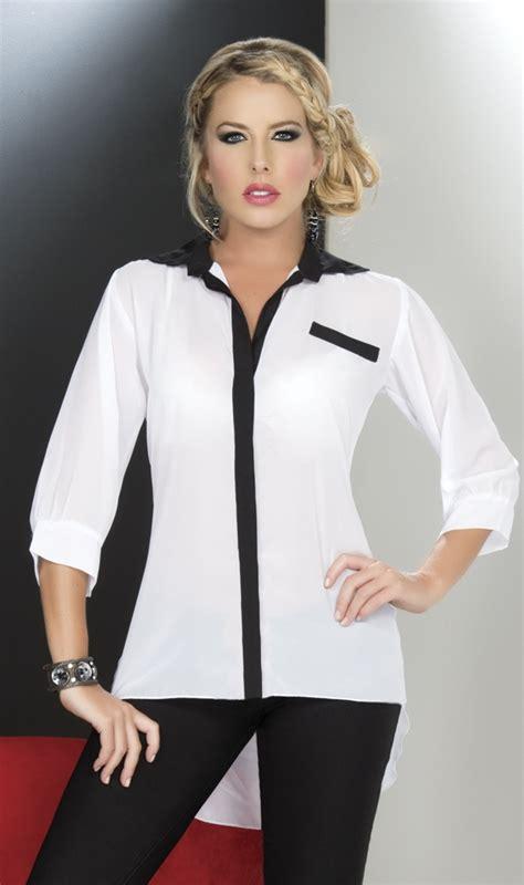 Leticia Tunic blusa en chiffon blusas para toda ocasi 211 n chiffon and drills