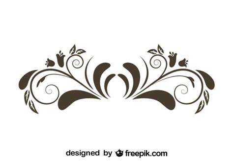 Style Graphic 4 bloem grafisch element retro stijl ontwerp vector gratis