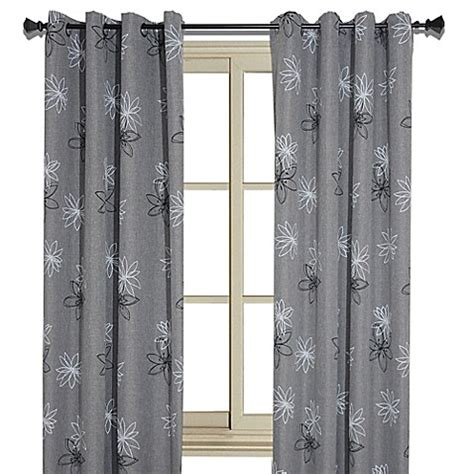 Floral Print Curtains Floral Print Room Darkening Window Curtain Panel Bed Bath Beyond