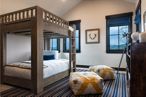 bunk beds for rooms cabin bunk room with large bunk beds with matresses transitional boy s room