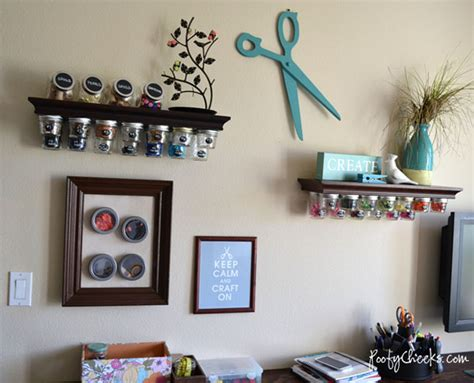 craft room wall decor craftaholics anonymous 174 craft room kelsey at poofy