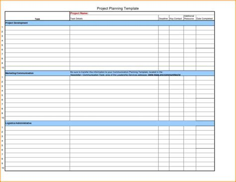 template for for a project project management schedule template excel and project