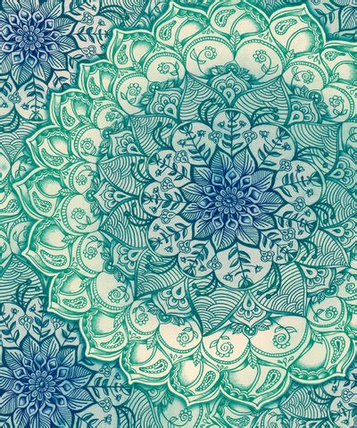 boho pattern drawing blue lotus pattern image 3161565 by marky on favim com