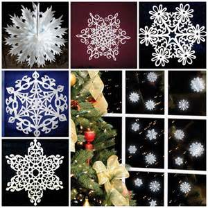 diy paper snowflakes templates wonderful diy pretty paper snowflake ornaments for