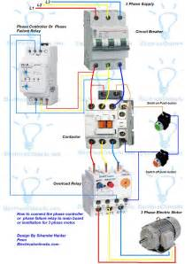phase controller wiring phase failure relay diagram electrical 4u electrical tutorials