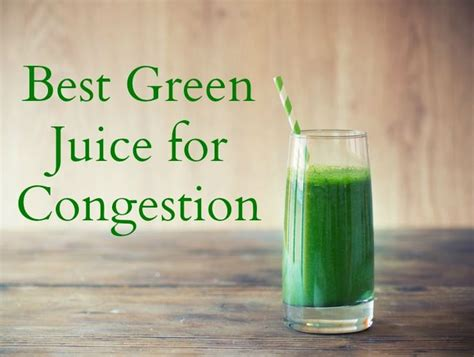 Detox Sinus Congestion by Try This Green Juice Recipe Which Helps Clear Congestion