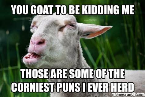 Meme Puns - goat pun