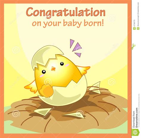 free new baby greeting card template congratulation on your baby born greeting card stock